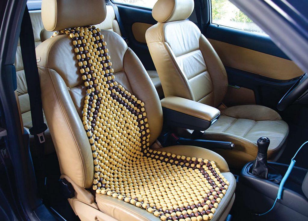 Couvre-siège voiture billes de bois